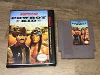 Cowboy Kid w/Case Nintendo Nes Cleaned & Tested Authentic