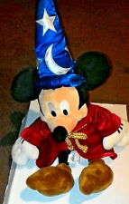 "Mickey Mouse Sorcerer Apprentice Fantasia 22"" Plush Disney Store Original"