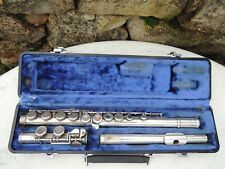 Vintage W. T. Armstrong Student Flute #105 w Hard Case Closed Holes as pictured