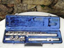 Vintage w. T. Estudiante De Armstrong Flauta #105 w Dura Case Closed Agujeros as