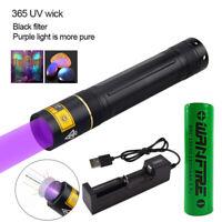 UV Flashlight Blacklight 365nm Ultra Violet Inspection Torch Light Lamp