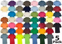 5 x Gildan Mens Womens Ultra Cotton Plain Crew Neck T-Shirt 100% Cotton