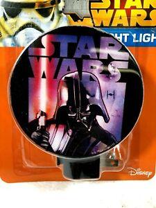 Disney STAR WARS Yoda Darth Vader Plug-in NIGHT LIGHT Lamp 3 Varieties NEW!