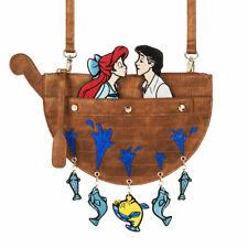 Danielle Nicole The Little Mermaid Ariel Eric Kissing Crossbody Purse Bag Disney