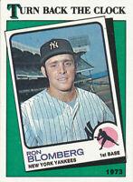 1988 Topps Ron Blomberg #663 Turn Back the Clock New York Yankees card