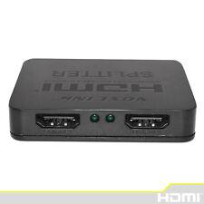 3D Mini 2 Port HDMI Splitter Switcher 1x2 1 in 2 out HDMI Distributor Splitter