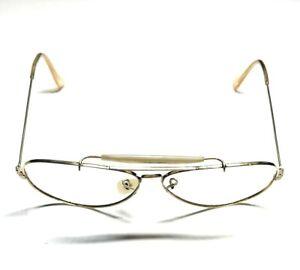 B&L Ray Ban 1/10 12K GF USA Gold Large Vintage Sunglasses 21D