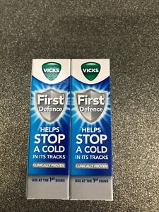 2 X FIRST DEFENCE NASAL SPRAY 15ML * STOPS A COLD IN ITS TRACKS * EXPIRY 02/2022