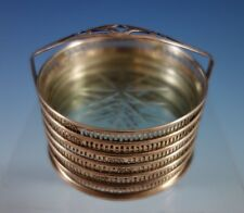 Webster Sterling Silver Coaster Set of 6 with Cut Crystal  in Caddy  (#2375)
