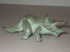 RARE!  Vintage Brass Metal Triceratops Dinosaur Figurine SRG Co