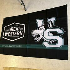 Great Western Beer Flag Banner Brewery 3 ft X 5 ft NEW  Saskatchewan Huskies