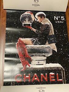"NIB ~ CHANEL No. 5 L'EAU ""VIP GIFT""  Limited Holiday 2019' Christmas Poster"