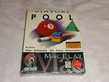 Virtual Pool The Ultimate 3D Pool Simulator (CD-ROM Mac 1996) MacPlay NEW SEALED