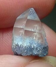 6ct Natural Dumortierite Acicular Inclusion in Clear Quartz Crystal Point Brazil