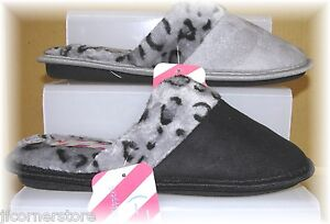 CLEARANCE QUALITY LADIES LINED SLIPPER/MULES SIZES 4-8 BNWT