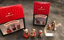 2 Hallmark Keepsake Hershey 98 & 96 Sewing Club Mice Figurines Merry Miniatures