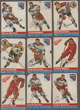 1954-55 Topps Original Hockey Cards Lot of 21