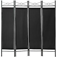 Biombos diseño 4-panel tela divisor habitación separador separación biombo negro