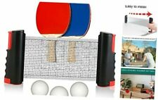 New listing Retractable Table Tennis Net and Post Set for Any Table, 2 Ping Pong Bright Red
