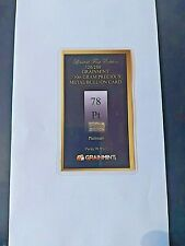 More details for 1/10th of a gram .999 pure pt platinum  bar with fast free shipping