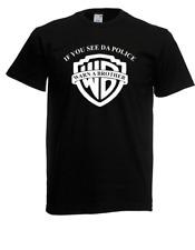 Herren T-Shirt If you see da Police Warn a Brother Satire Größe bis 5XL