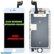 DISPLAY+VETRO TOUCH SCREEN+FRAME APPLE IPHONE 6S RETINA 3D A1633 A1688 BIANCO