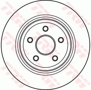 TRW Brake Rotor Rear DF4979S fits Jeep Grand Cherokee 3.0 CRD 4x4 (WH,WK), 3....