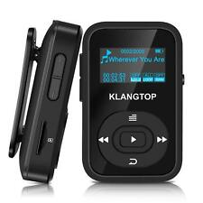 Negro Bluetooth Mp3 Player klangtop Digital 8 GB Sports Clip Mp3 Player Radio FM