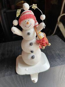 VINTAGE HALLMARK LARGE SNOWMEN CHRISTMAS STOCKING HOLDERS
