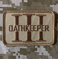 OATHKEEPER 3 PERCENTER USA 3% TACTICAL BADGE DESERT VELCRO® BRAND FASTENER PATCH