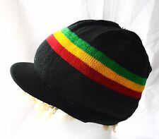 Rasta Cappello A Maglia Con Scudo _ drealock ha Knitted with visor _ Natty Cap _ reggae