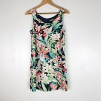 Tommy Bahama Floral Silk Shift Dress Sz 6