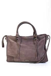 Rebecca Minkoff  Zip Up Suede Satchel Handbag Lilac