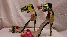 STEVEN MADDEN MARLENEE women high heels size 10 floral sandals casual shoes