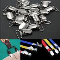 10 Pcs Suspender Metal Holder 36*20mm Insert Pacifier Heart Type Clips Craft Sew