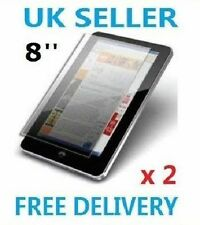 """2x 8"""" inch Android Tablet PC Screen Protector Cover UK Cover whole screen"""