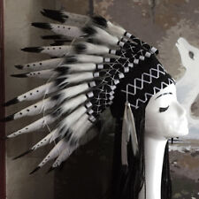 Unisex Indian Feather Headpiece Fancy Cosplay Native American Chief Headwear