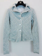 ~TRES CHIC~ APPARTAMENTO 50 ITALY RAW EDGE KNIT JACKET SIZE SMALL
