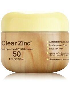 Sun Bum Premium Sunscreen Cream 1 Oz Clear Zinc 50 SPF Broad Spectrum UVA UVB
