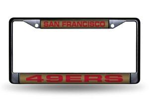 San Francisco 49ers Black Metal Laser Cut License Plate Frame