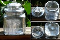 Silvered Glass Canister Vintage Mercury Covered Small