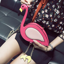 Fashion Flamingos Shaped Womens Chain Cross Body Shoulder Bag Pures Clutch Party