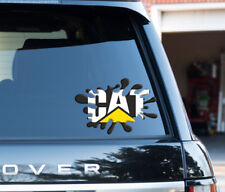 CAT Caterpillar Logo Stile Splat Adesivo Decalcomania Divertente Auto, Furgone, Laptop, porte