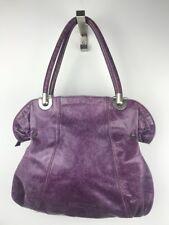 Christopher Kon Purple Leather Large Shoulder Bag