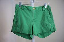 Banana Republic Cotton Blend Green Casual Shorts Size - 2