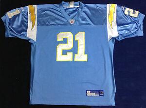 San Diego Chargers LaDainian Tomlinson 21 Sewn Football NFL Reebok Jersey size52