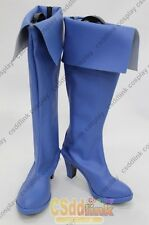 Power girl Cosplay boots shoes light blue