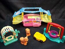 Fisher Price Little People Pop Up Camper w/ Bears + Outdoor Swing Sets
