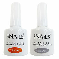 Miss Nails ® Twin Pack Top y Base Coat Para Led Uv Uñas De Gel Soak Off polaco 10ml