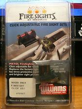 WILLIAMS GUN SIGHT FIBER OPTIC CLICK ADJUSTABLE SIGHTS FOR RUGER MODEL SR22 .